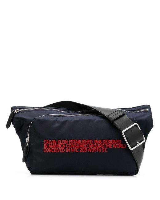 CALVIN KLEIN 205W39NYC スローガン ベルトバッグ Multicolor