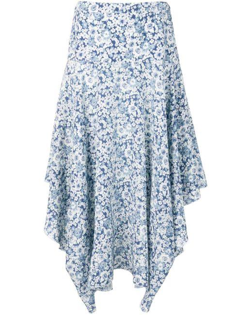 Stella McCartney フローラルプリント スカート Blue