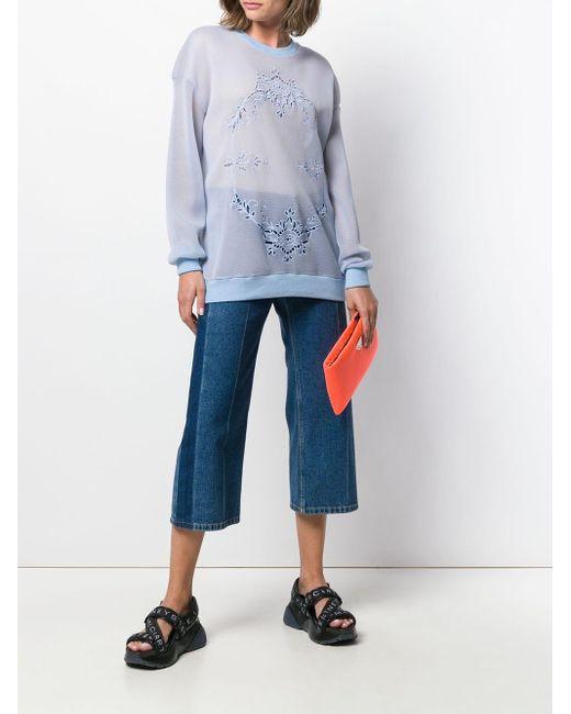 Stella McCartney メッシュ スウェットシャツ Blue