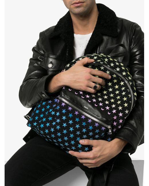acd02f650fd ... Amiri - Black Degrade Star Embroidered Backpack for Men - Lyst ...