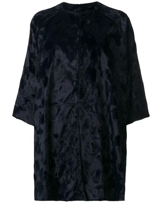 Gianluca Capannolo - Blue Cropped Sleeves Coat - Lyst
