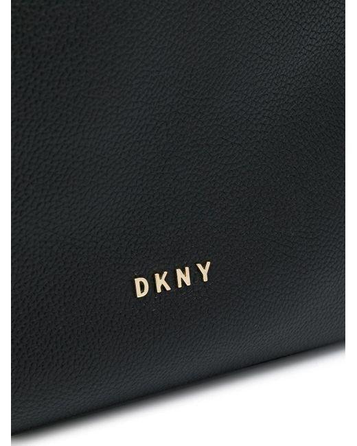 DKNY ウーブン ハンドバッグ Black