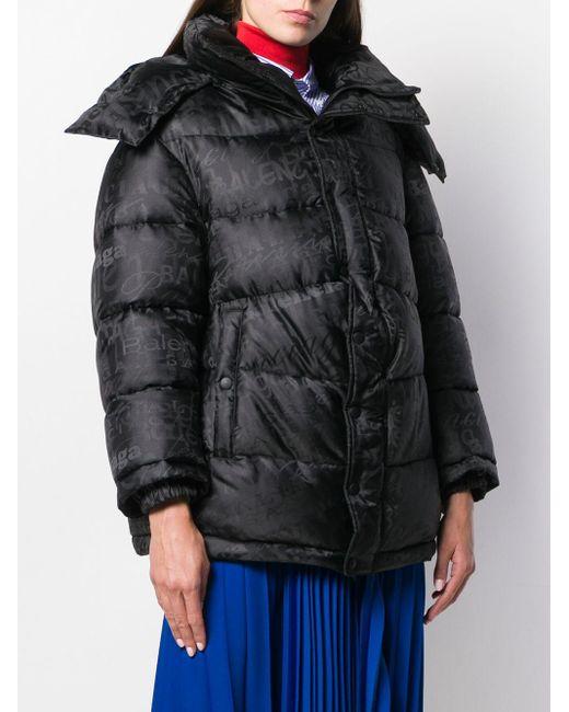 Balenciaga ニュースウィング パデッドジャケット Black