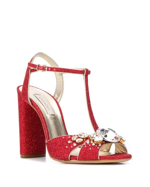 Casadei デコラティブ パンプス Red