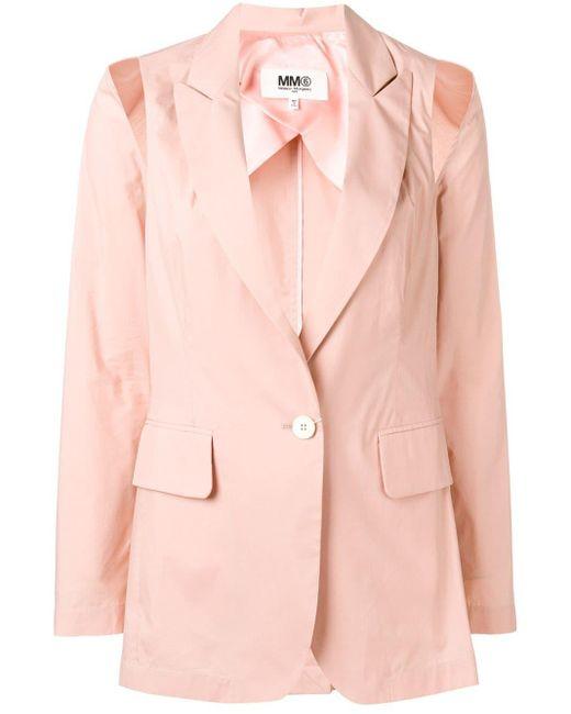MM6 by Maison Martin Margiela カットアウト ジャケット Pink