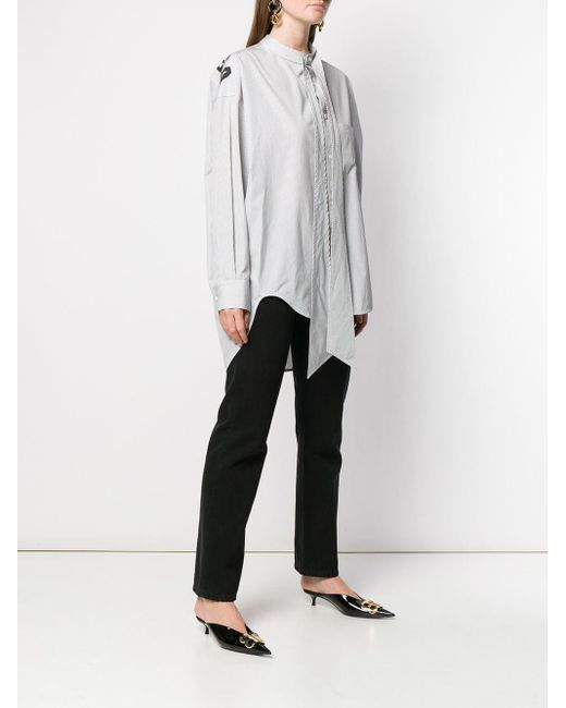 Balenciaga ロゴプリント シャツ White