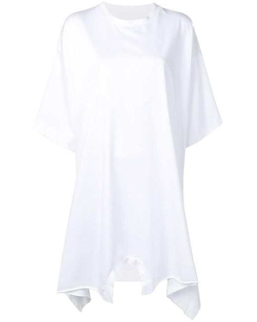 Robe-t shirt oversize MM6 by Maison Martin Margiela en coloris White