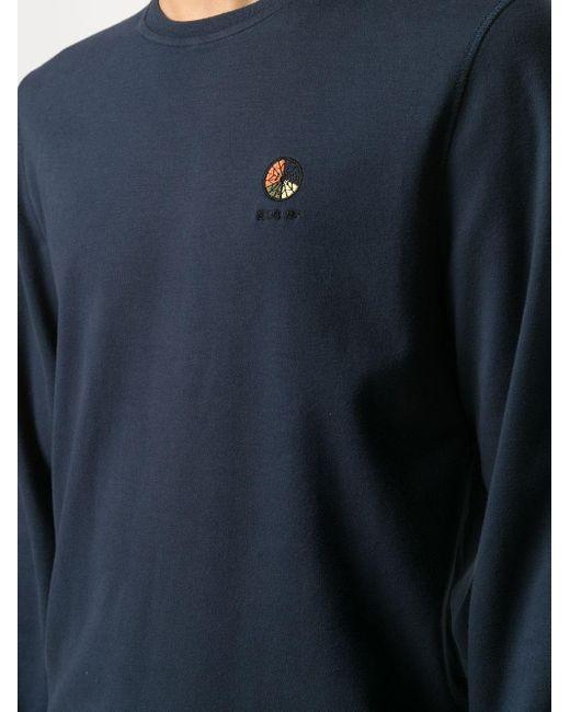 メンズ Raeburn ロゴ ロングtシャツ Blue