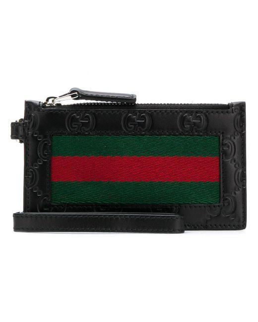 Gucci Black Zipper Wallet for men