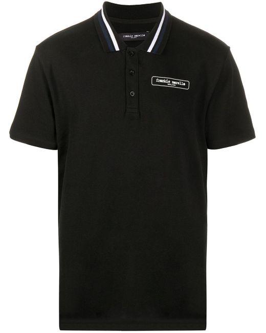 メンズ Frankie Morello ロゴ ポロシャツ Black