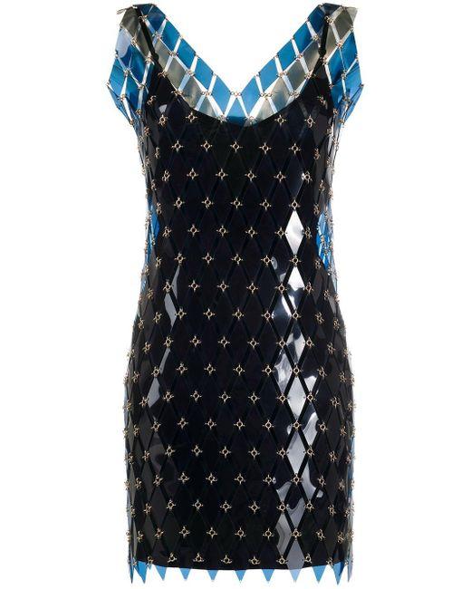 Paco Rabanne チェーン ドレス Blue