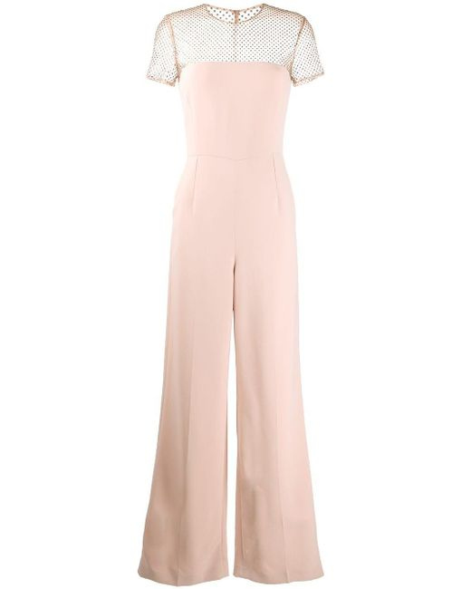 Stella McCartney メッシュパネル ジャンプスーツ Pink