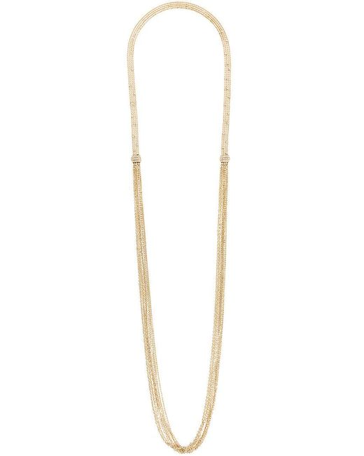 Lanvin | Metallic Long Thin Chain And Fringe Necklace | Lyst