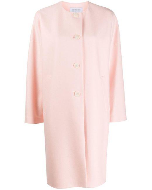 Harris Wharf London オーバーサイズ シングルコート Pink