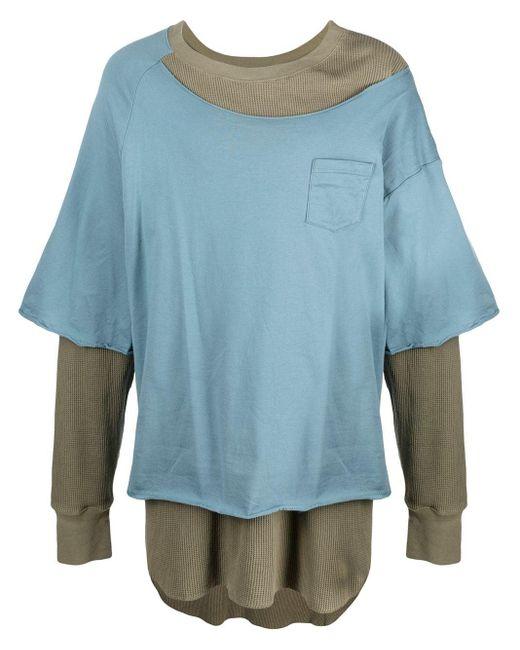 メンズ Facetasm レイヤード Tシャツ Blue