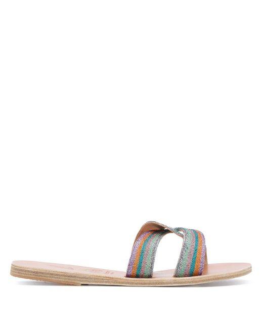Ancient Greek Sandals Desmos エンブロイダリー サンダル Blue