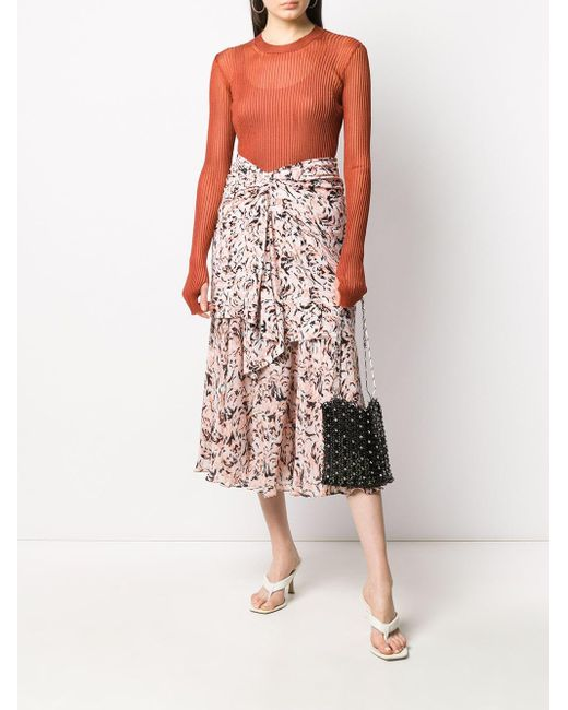 Proenza Schouler アニマルプリント レイヤードスカート Multicolor