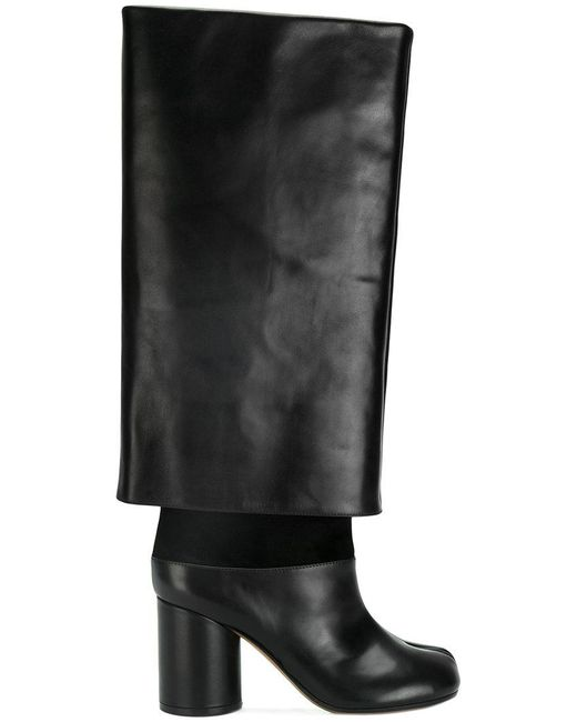 Maison Margiela | Black Oversized Long Tabi Boots | Lyst
