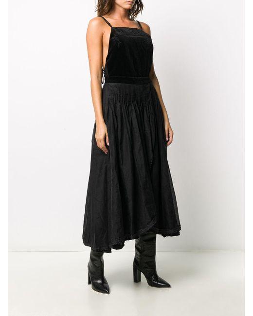 Renli Su ベルベット ドレス Black