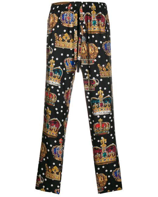 メンズ Dolce & Gabbana プリント トラックパンツ Multicolor