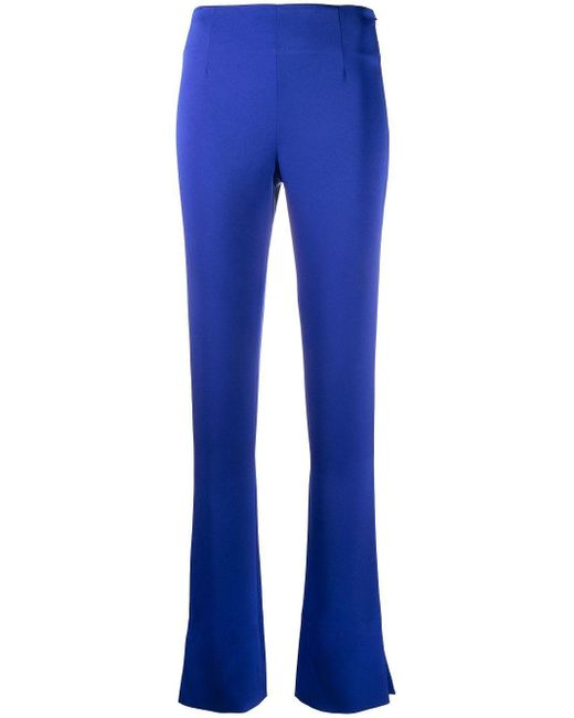 Galvan Blue High-waisted Flared Trousers