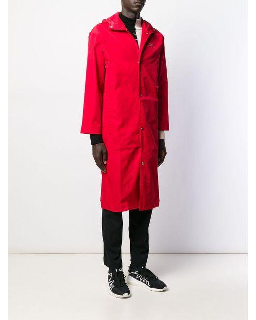 メンズ A_COLD_WALL* フーデッドコート Red