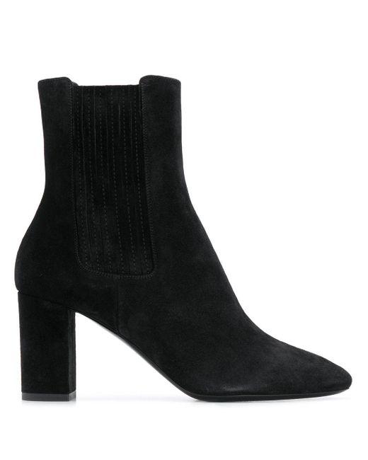 Bottines à bout en amande Saint Laurent en coloris Black