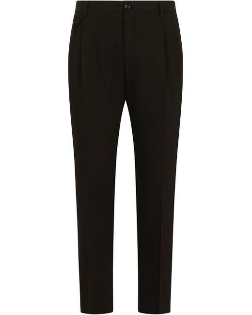 Pantaloni sartoriali slim di Dolce & Gabbana in Black da Uomo