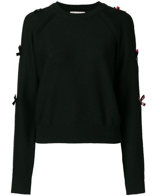 Emilio Pucci | Black Bow-embellished Sweater | Lyst