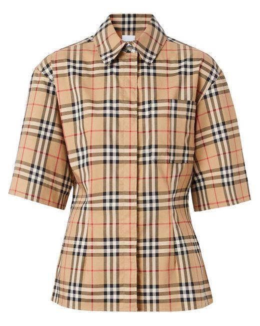 Рубашка В Клетку Vintage Check С Короткими Рукавами Burberry, цвет: Multicolor