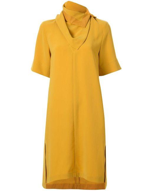 3.1 Phillip Lim スカーフネック ドレス Yellow