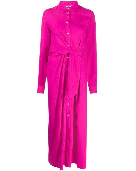 P.A.R.O.S.H. タイウエスト シャツドレス Pink