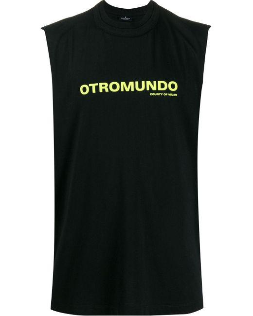 メンズ Marcelo Burlon Otromundo タンクトップ Black