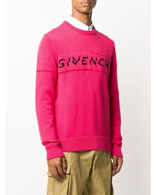 メンズ Givenchy ロゴ プルオーバー Pink