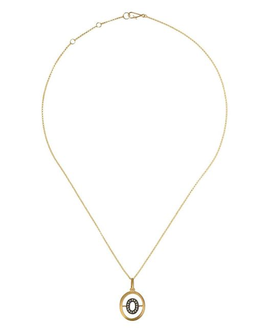 Collier en or 18ct à pendentif initiale O Annoushka en coloris Metallic