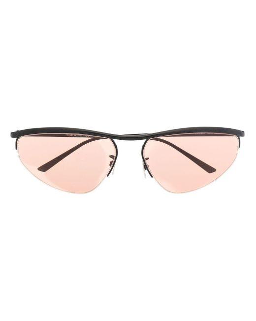 Солнцезащитные Очки В Овальной Оправе Bottega Veneta, цвет: Black