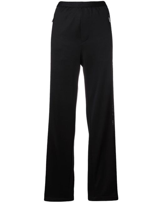 DSquared² - Black Sequin Embellished Sports Trousers - Lyst