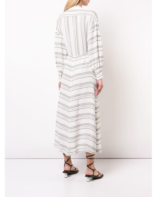 Proenza Schouler ストライプ クレープドレス White