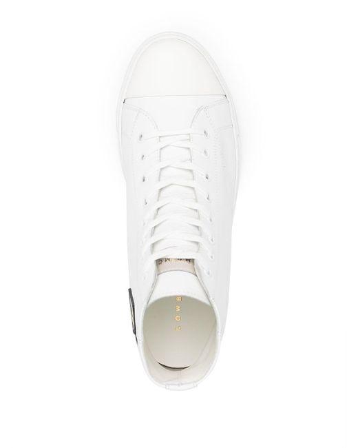 メンズ Low Brand パッチ ハイカットスニーカー White