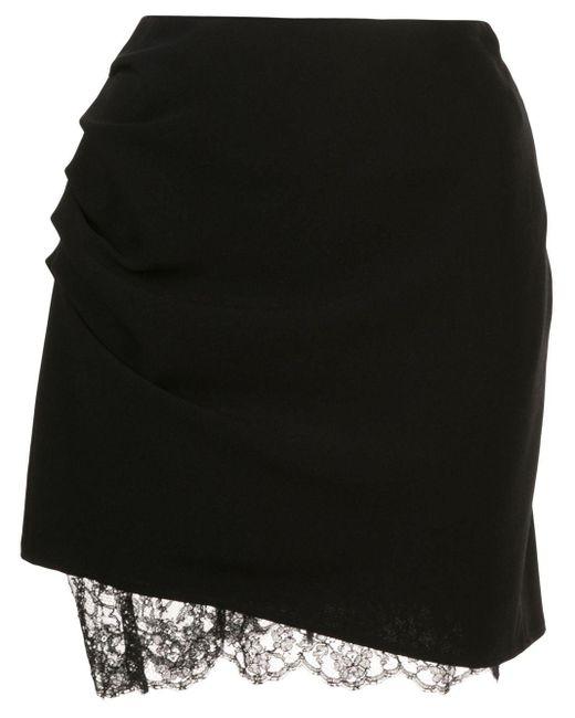Fleur du Mal Lace Trimmed Mini Skirt Black