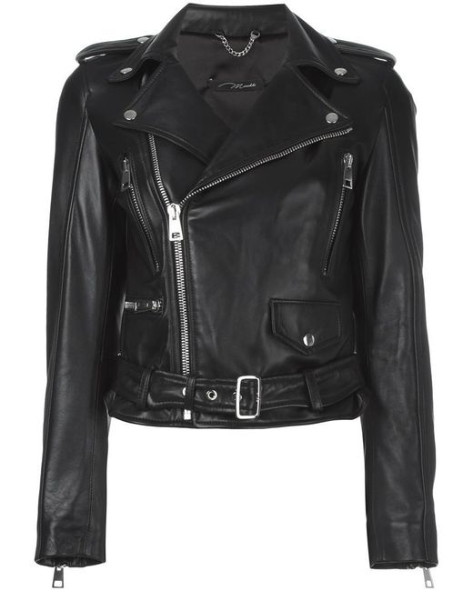 Manokhi - Black Classic Biker Jacket - Lyst