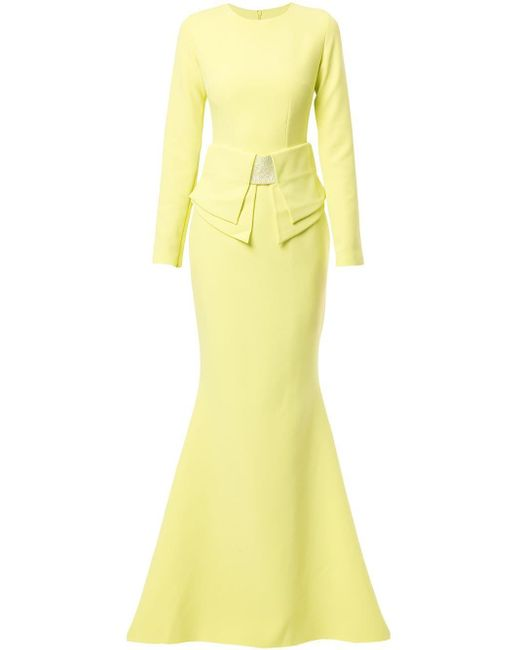 Safiyaa Kani Origami ドレス Yellow