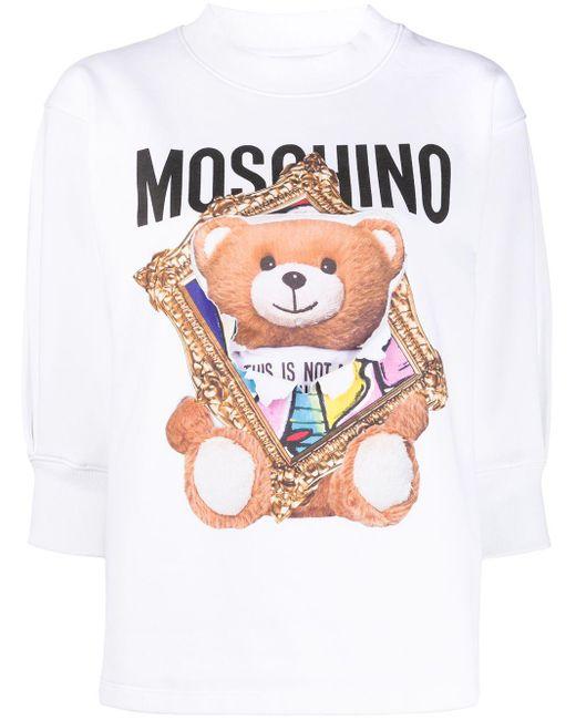 Moschino テディベア スウェットシャツ White