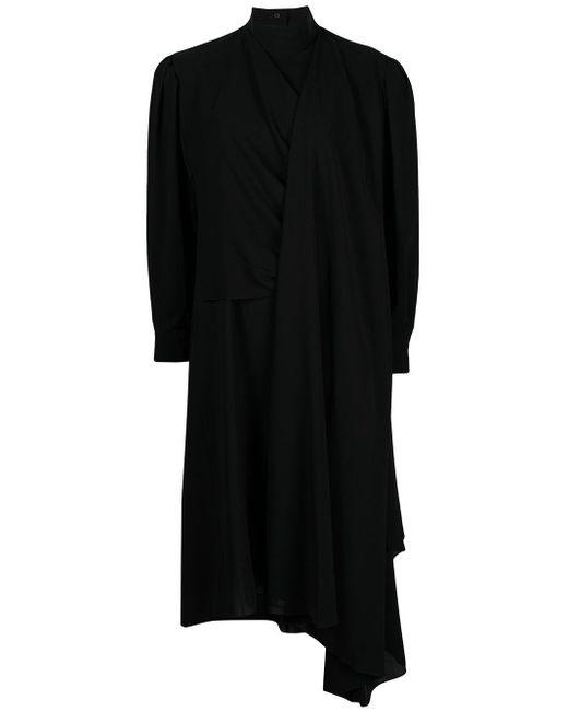 Juun.J ドレープネック ドレス Black
