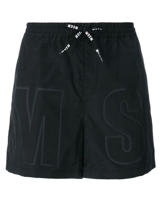 Pantaloncini da mare di MSGM in Black da Uomo