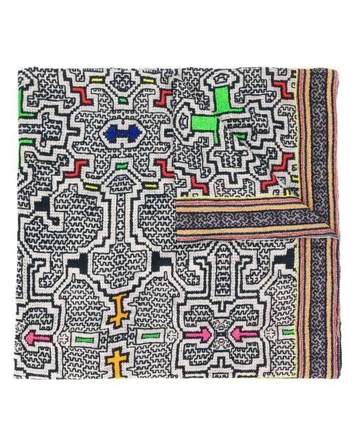 Faliero Sarti Bazar ジオメトリックプリント スカーフ White