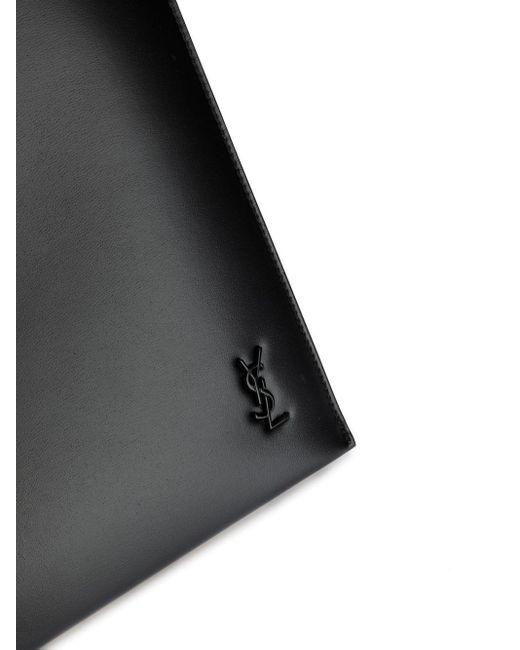 Клатч С Логотипом Ysl Saint Laurent для него, цвет: Black