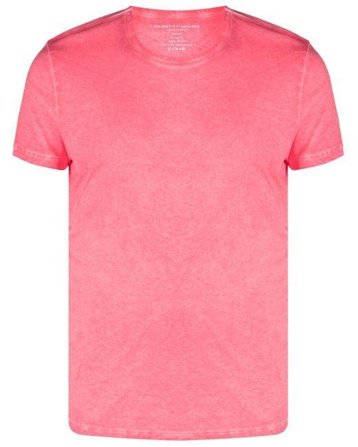 メンズ Majestic Filatures クルーネック Tシャツ Pink