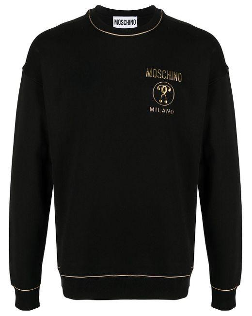 Толстовка С Контрастными Полосками И Логотипом Moschino для него, цвет: Black