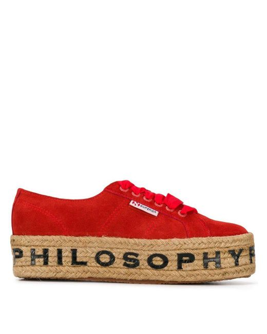 Philosophy Di Lorenzo Serafini Superga X Philosophy スニーカー Red